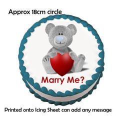 adorable!!! proposal on a cake!!