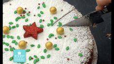 Vasilopita by Argiro (Festive Cake) Greek Sweets, Greek Desserts, Greek Recipes, Vasilopita Cake, Greek Cake, New Year Menu, Tiramisu Cheesecake, Best Christmas Cookies, Pie Cake