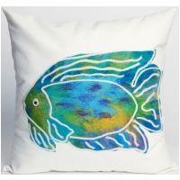 Visions II Batik Fish Indoor Outdoor Pillow