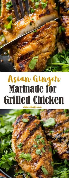 Asian Ginger Marinade for Grilled Chicken Do you love Japanese Steakhouse Ginger Dressing? Us too, but we only just tried it as an Asian Ginger Marinade for Grilled Chicken and it's the best chicken marinade yet! Asian Marinade For Chicken, Chicken Marinade Recipes, Asian Chicken Recipes, Ginger Chicken, Grilling Recipes, Asian Recipes, Cooking Recipes, Healthy Recipes, Chicken Breast Marinades