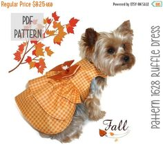 ON SALE Thanksgiving Dog Dress SEWING Pattern  by SofiandFriends