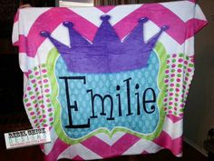 Personalized  Name Monogram Blanket by RebelChickBoutique on Etsy, $55.00