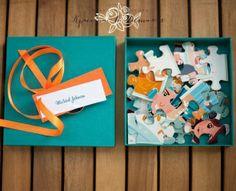 """Приглашения-пазлы от Мастерской """"Красота в Деталях"""" http://krasotavdetalyah.com/ Puzzle wedding invitations"""