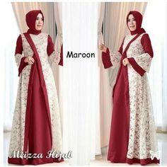 Batik Fashion, Abaya Fashion, Fashion Dresses, Fashion Sewing, Hijab Dress Party, New Party Dress, Islamic Fashion, Muslim Fashion, Dress Brokat