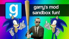 Gmod Sandbox Funny Moments - Sonic 1v1, Mcdonalds, Baseball Bat Fun, Bat...