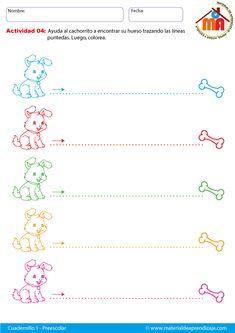 Hoja de trazos horizontales imprimibles de iniciación a la preescritura para niños de preescolar. Ficha de trazos de líneas horizontales.