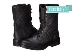5c73667c2c2 Steve Madden Exclusive - Saffrin Black Leather - Zappos.com Free Shipping  BOTH Ways Boots