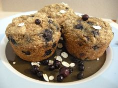 #vegan Blueberry Oatmeal Muffins by Happy Herbivore