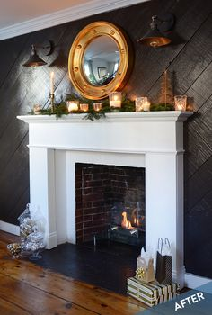 How-To: Elegant DIY Wooden Mantel