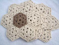 crochet coaster set by BabanCat on Etsy, £16.00