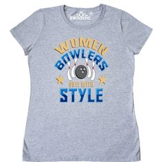 Bowling Gift Women Bowlers Sports Women's T-Shirt - Athletic Heather Bowling T Shirts, Funny Women, Cute Crafts, T Shirts For Women, Tees, Mens Tops, Gifts, Style, Fashion