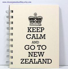 New Zealand Travel Journal Notebook Diary by stevenjameskeathley, $8.95