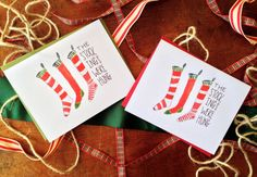 The Stockings Were Hung Watercolor Christmas by seewhatiseadesigns