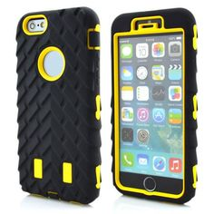 Dual Layer Defender Case For iphone 6 TPU + Hard Plastic 3 in 1 Heavy Duty