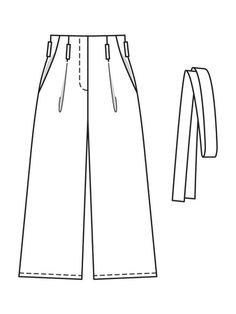 burda Numer wzoru: C 104 Pattern Drafting, Kids Fashion, Fashion Design, Trousers Women, Jeans, Pajama Pants, Sketches, Couture, Sewing