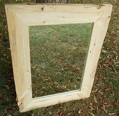 Natural Edge Mirror Frame  Rustic Red Pine  by AlongtheRidge, $175.00