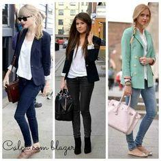looks com calça jeans - Pesquisa Google