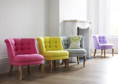Heart Home Loves Cotton Furniture by Oliver Bonas is part of Bedroom chair Here at Heart Home we are loving the colourful cotton furniture by Oliver Bonas Designed exclusively in house and made i - Oliver Bonas, Bedroom Chair, Painted Chairs, Guest Bed, Tub Chair, Decoration, Home Furniture, Architecture, Sweet Home