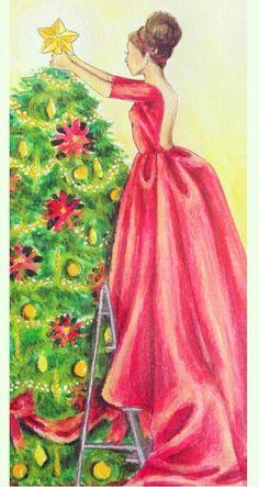 "Christmas illustration by ""Zyra Banez"""