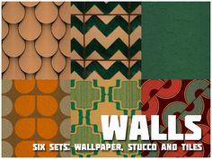 Walls [Radio Gnome Invisible] Six Sets: Wallpaper, Stucco, And Tiles