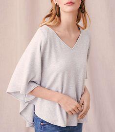 Shop Lou & Grey women's clothing for a comfortably confident life. You'll love our easy Lou & Grey Signaturesoft V-Neck Poncho - shop louandgrey.com today!
