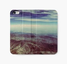 Mountains & Sky iPhone Wallet  Aerial Photography by DifferentCity