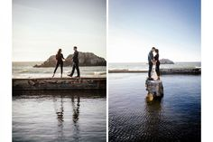 San Francisco's Sutro Baths makes a gorgeous engagement session back drop.