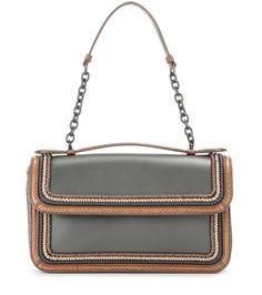 611c05e84d Bottega Veneta Snakeskin-Trimmed Leather Handbag (27.934.940 IDR) ❤ liked on