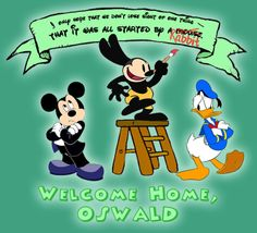 oswald the lucky rabbit  gif | Oswald the Lucky Rabbit Wallpaper - The DIS Discussion Forums ...