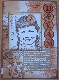 card made with rubber stamps and mixed media by Lillibelle