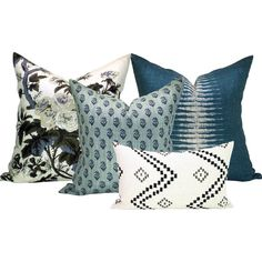 Spark Modern Curated Collection - Pyne Hollyhock Charcoal, Ikat Peacock, Rajmata Tonal, and Taj Onyx/Ash - 5 pillow covers Grey Pillow Covers, Grey Pillows, Decorative Pillow Covers, Down Pillows, Floor Pillows, Throw Pillows, Applique Pillows, Modern Pillows, Decorative Cushions