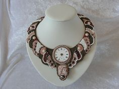 Perlenstickerei - Collier Beaded Embroidery, Beads, Jewelry, Fashion, Necklaces, Beading, Moda, Jewlery, Jewerly