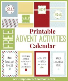 Free Printable Advent Activities Calendar by Sarah from My Joy-Filled Life at Hip Homeschool Moms