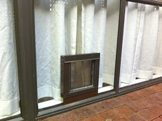 sliding glass door doggie door insert