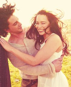 Kit Harrington and Emilia Clarke. Favourite characters on Game of Thrones