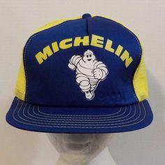 2b21eff76c4 Michelin Tires Bibendum Snapback Baseball Truckers Hat Cap  VM  BaseballCap  Michelin Tires