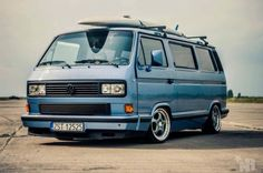 Blue VW T3 Transporter