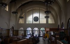 Inside the Santa Fe Depot Transit Center. What an amazing old railway station! It was originally built in 1880 and is still standing thanks to some renovation. A gorgeous old building!
