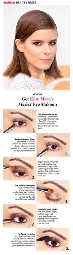 How to copy Kate Mara's smoky eye makeup