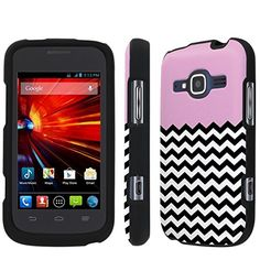 Buy [NakedShield] T-Mobile Concord II 2 / ZTE Condord II 2 (Pink Chevron) Total Armor Snap-On Phone Case NEW for 9.97 USD | Reusell