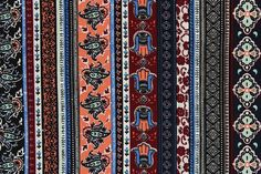 100% Viscose Ethnic Hamsa Festival Print Dress Fabric Material(Blue/Orange/Burg)  | eBay