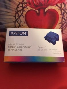 Katun Xerox Ink Cyan 39395 New Genuine 8570 Series Factory Sealed Box Ink Toner, Cube, Seal, Box, Party, Grey Hair, Dyes, Snare Drum, Harbor Seal