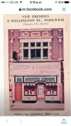 Coton and Hamblin Opticians, 8 Wellington Street Woolwich