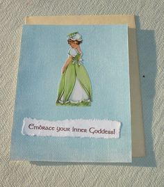 Magical Goddess Quote Greeting Card - Wiccan & Pagan Stationary - Handmade by Harmonee's Creations