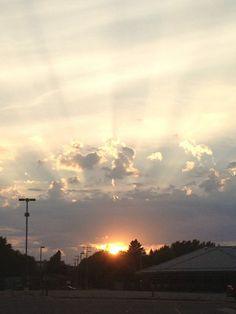 Sunset in Marshfield, Wisconsin