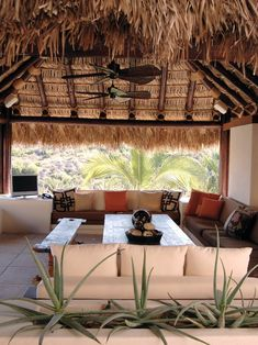 Tropical Living Room Design, Pictures, Remodel, Decor and Ideas - page 5  Looks like the resort we went to in Punts Cana!