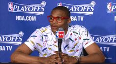 A non-Celtic, but I had to put this photo of Russell Westbrook SOMEWHERE. That shirt. Wow.