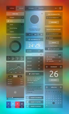 #Freebies #Flat Design #UI Components