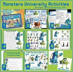 Monsters University Activities