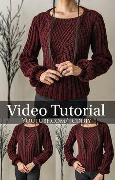 Crochet Sweater Design, Crochet Jumper, Crochet Blouse, Easy Crochet Hat Patterns, Crochet Beanie Pattern, Crochet Designs, Sewing Clothes Women, Crochet Clothes, Crochet Woman